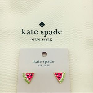 Kate Spade Picnic Perfect Watermelon Earrings New